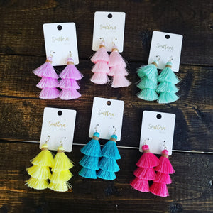 Tiered Tassel Earring 538