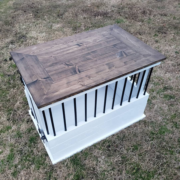 Dog Crate & Side Table