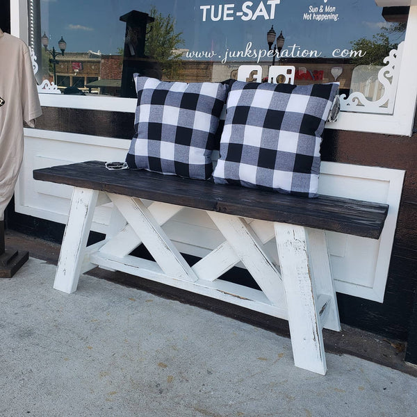 Farmhouse X Bench