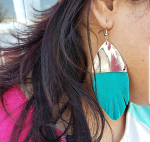 Suede feather Earrings 806