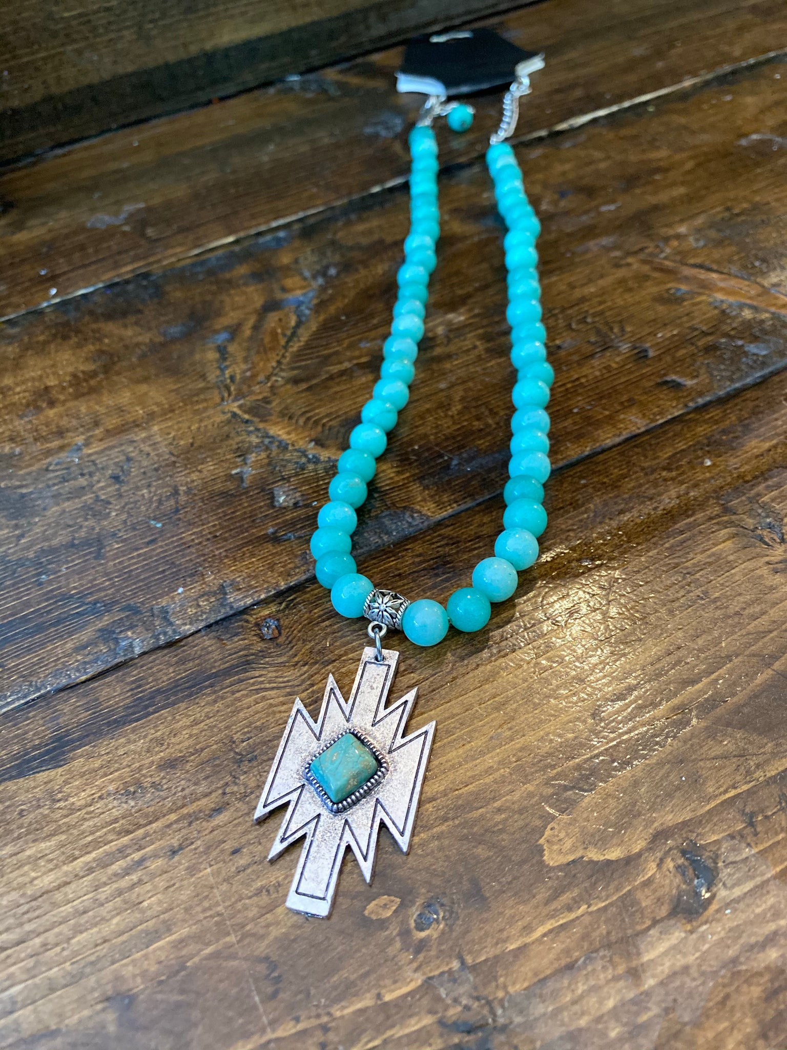 Turquoise Aztec Necklace 119