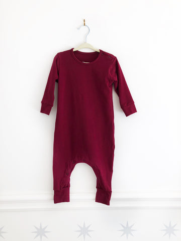 Basic Burgundy | Cotton + Spandex