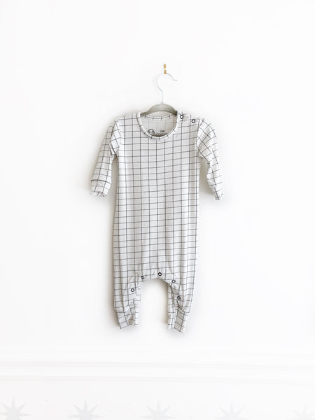 Basic Romper | White Grid