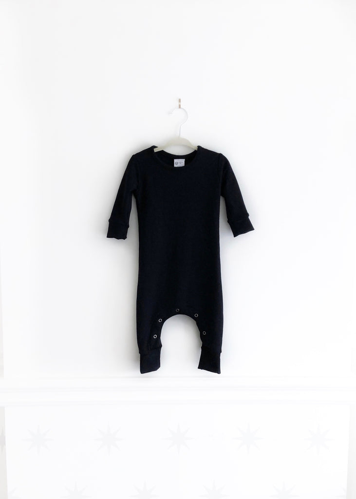 The Long Sleeve Romper | Noir
