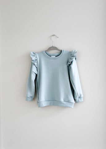 The Ruffle Pullover | Sage