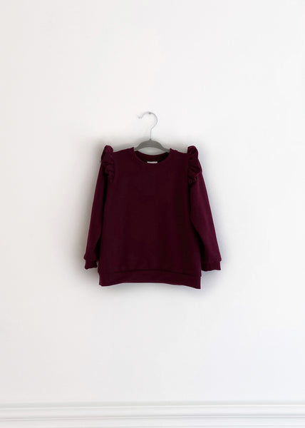 The Ruffle Pullover | Mulberry