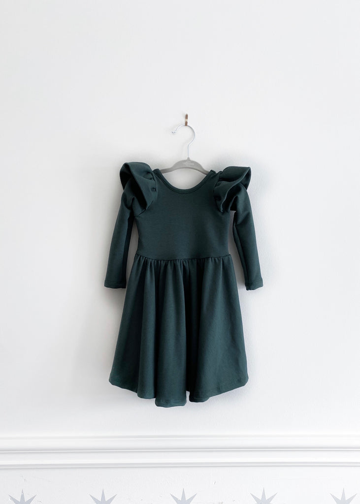 The Blaire Winter Dress | Pine