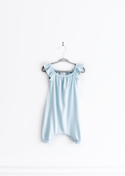 Flutter Romper | Blue Bird