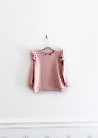 The Ruffle Pullover | Rose Garden