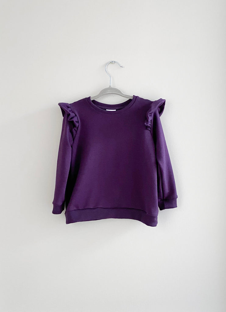 The Ruffle Pullover | Plum