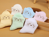 Baby Cat Design Colour Breathable Socks Variations