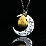 I love you Moon Necklace Aunt