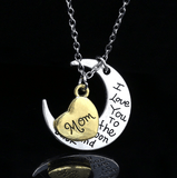 I love you Moon Necklace Mom