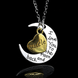 I love you Moon Necklace Uncle