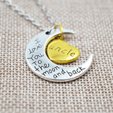 I love you Moon Necklace Uncle 2
