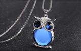 Trendy Owl Fashion Necklace Rhinestone Crystal Pendant Long Chain