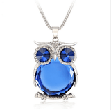 Ladies Own Necklace Blue with Silver Chain
