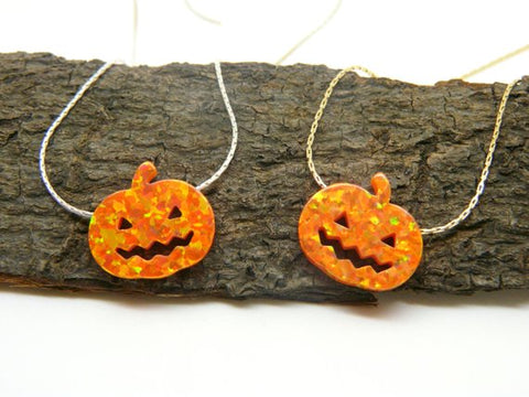 Pumpkin necklace - OpaLandJewelry