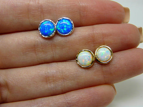 Opal Gold filled / Sterling silver earrings - OpaLandJewelry