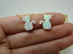 Opal Cat necklace - OpaLandJewelry