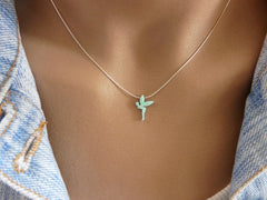 Opal fairy necklace - OpaLandJewelry