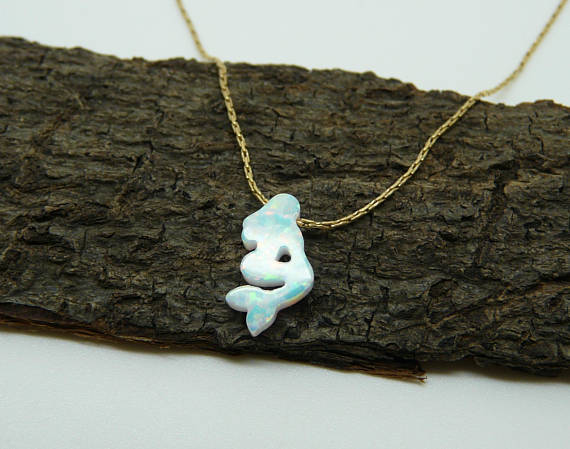 Mermaid Opal necklace - OpaLandJewelry