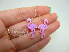 Pink Flamingo necklace - OpaLandJewelry