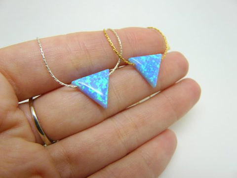 Opal triangle necklace - OpaLandJewelry