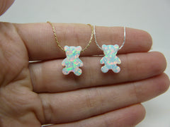 Opal bear necklace - OpaLandJewelry