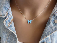 Opal Bow necklace - OpaLandJewelry