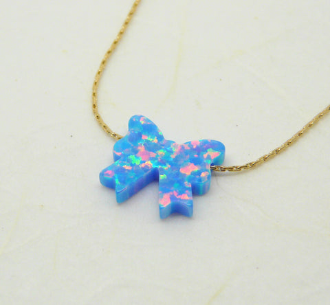 Ribbon Opal necklace - OpaLandJewelry