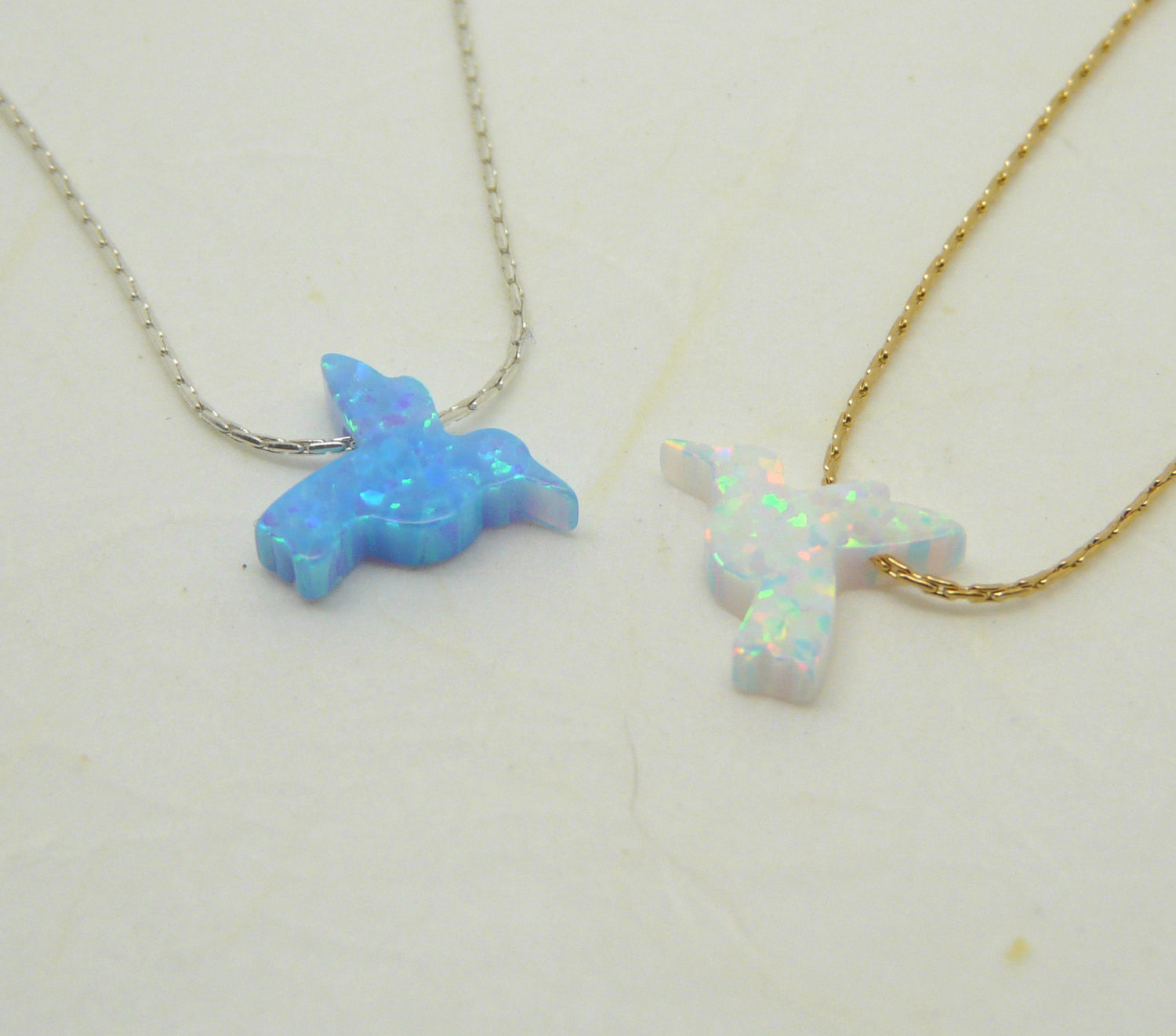Opal bird necklace - OpaLandJewelry