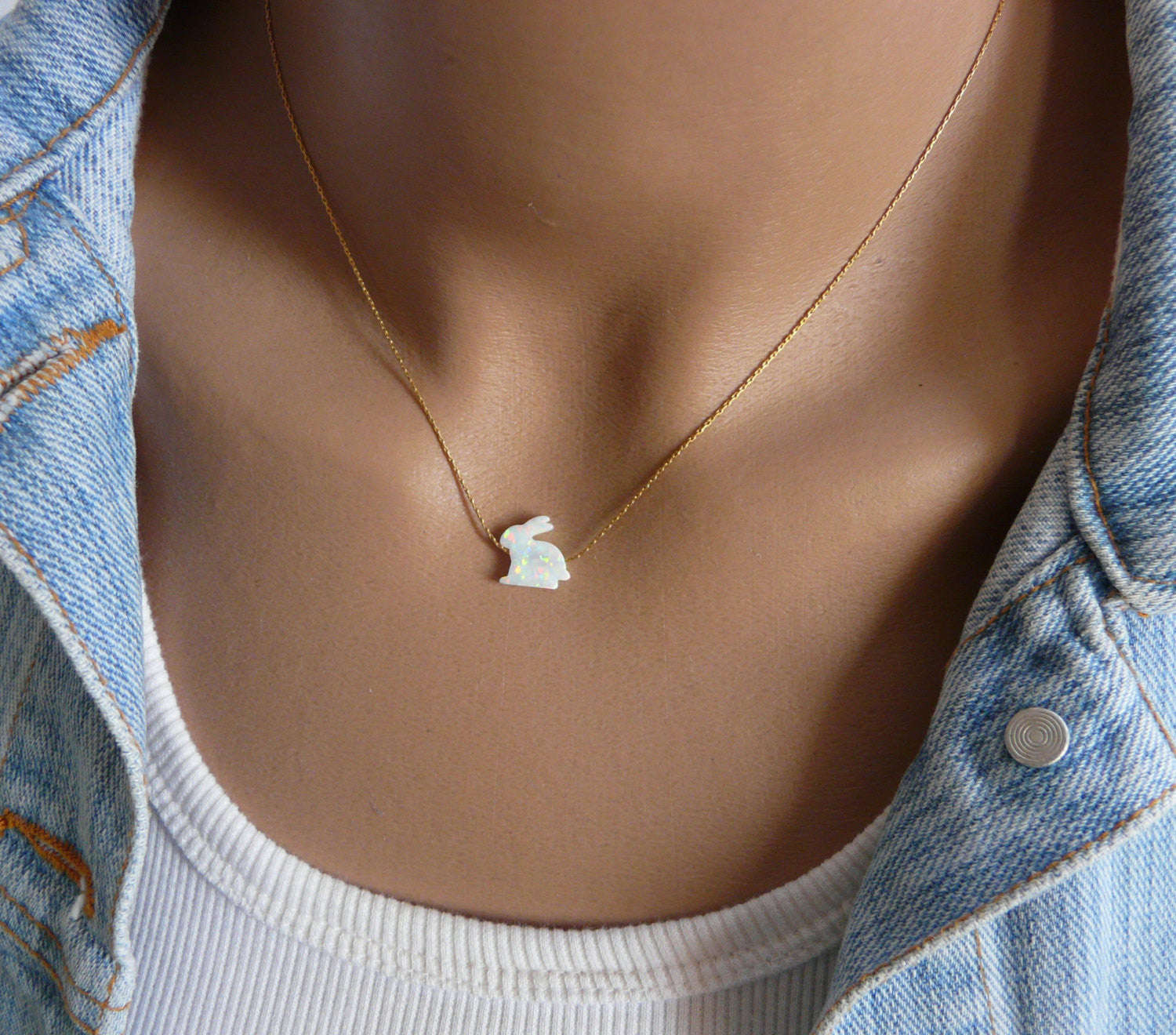Rabbit necklace - OpaLandJewelry