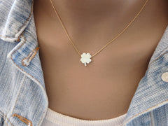Four leaf clover necklace - OpaLandJewelry