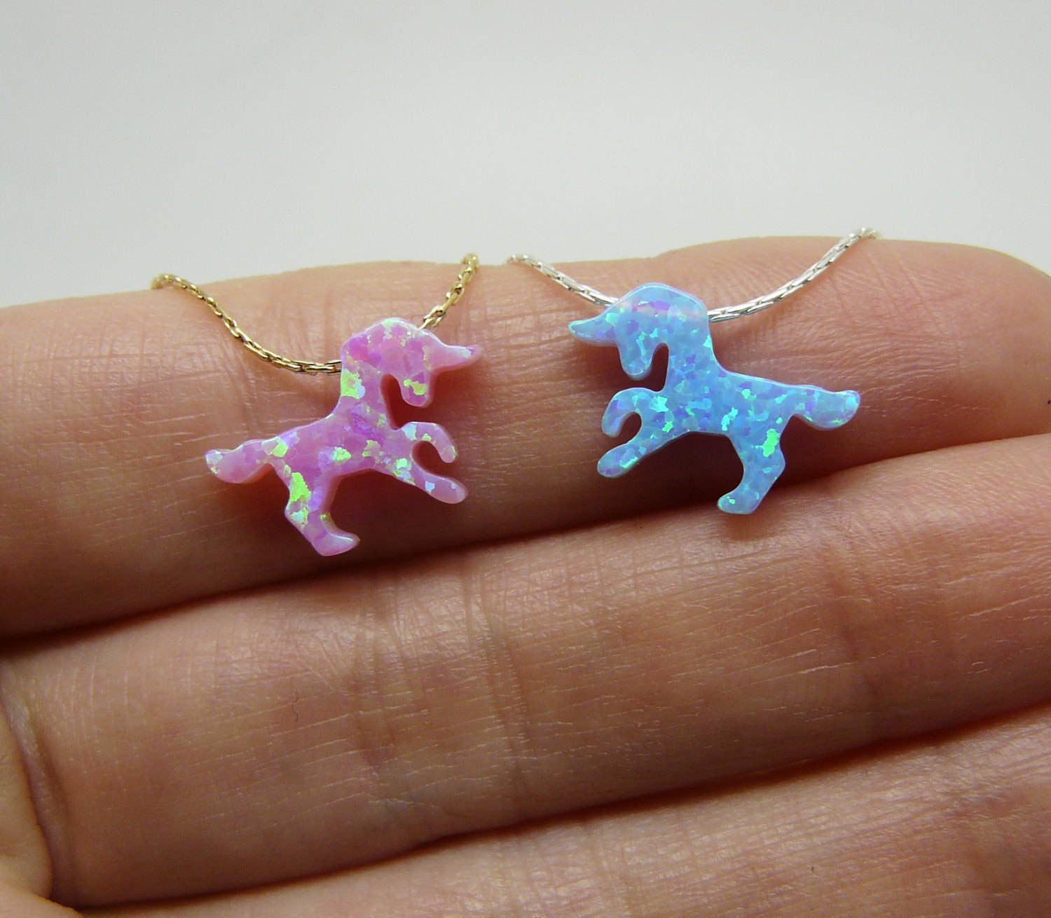 Opal Unicorn necklace - OpaLandJewelry