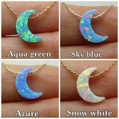 Crescent moon necklace - OpaLandJewelry