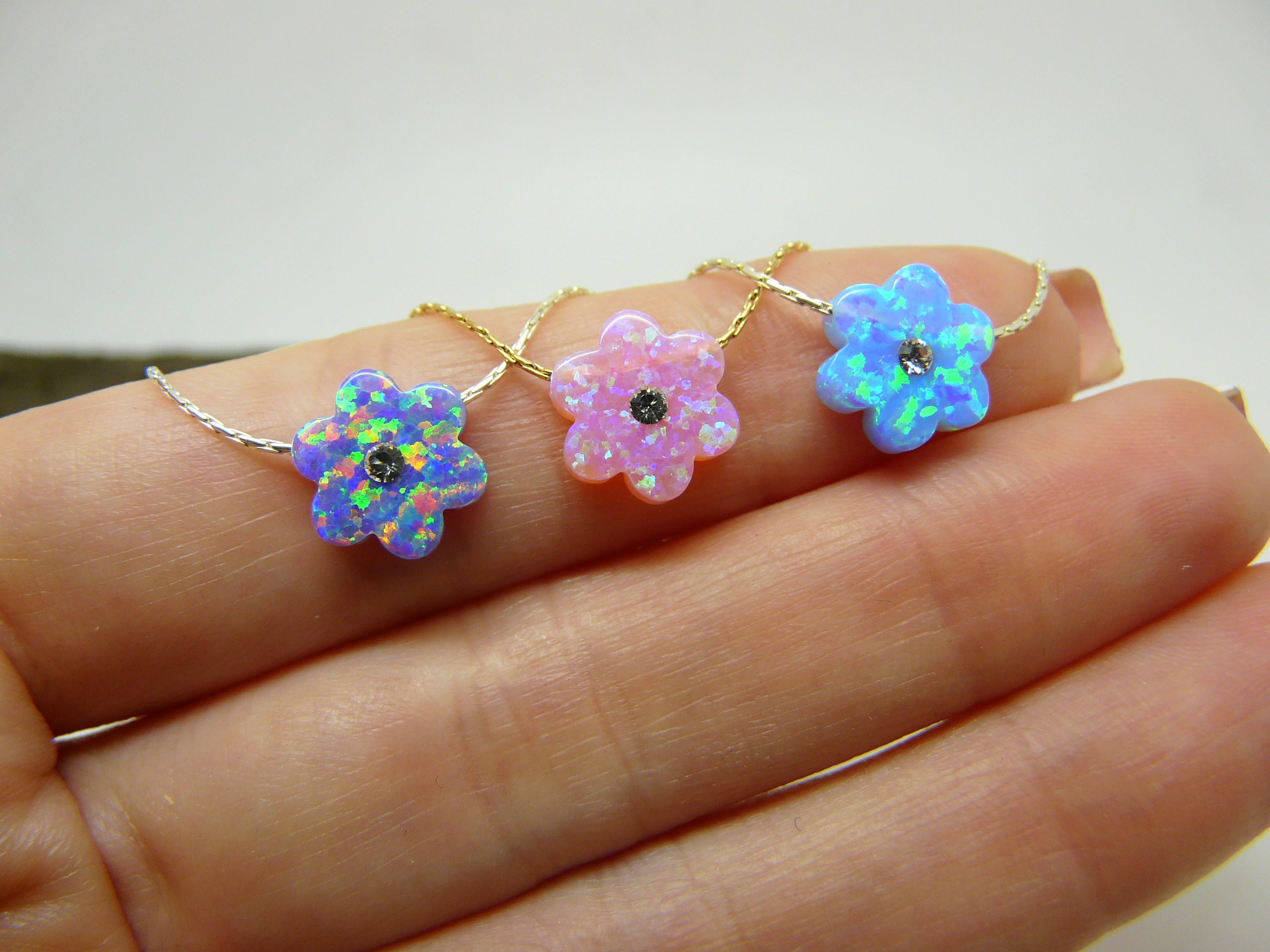 Flower girl necklace - OpaLandJewelry
