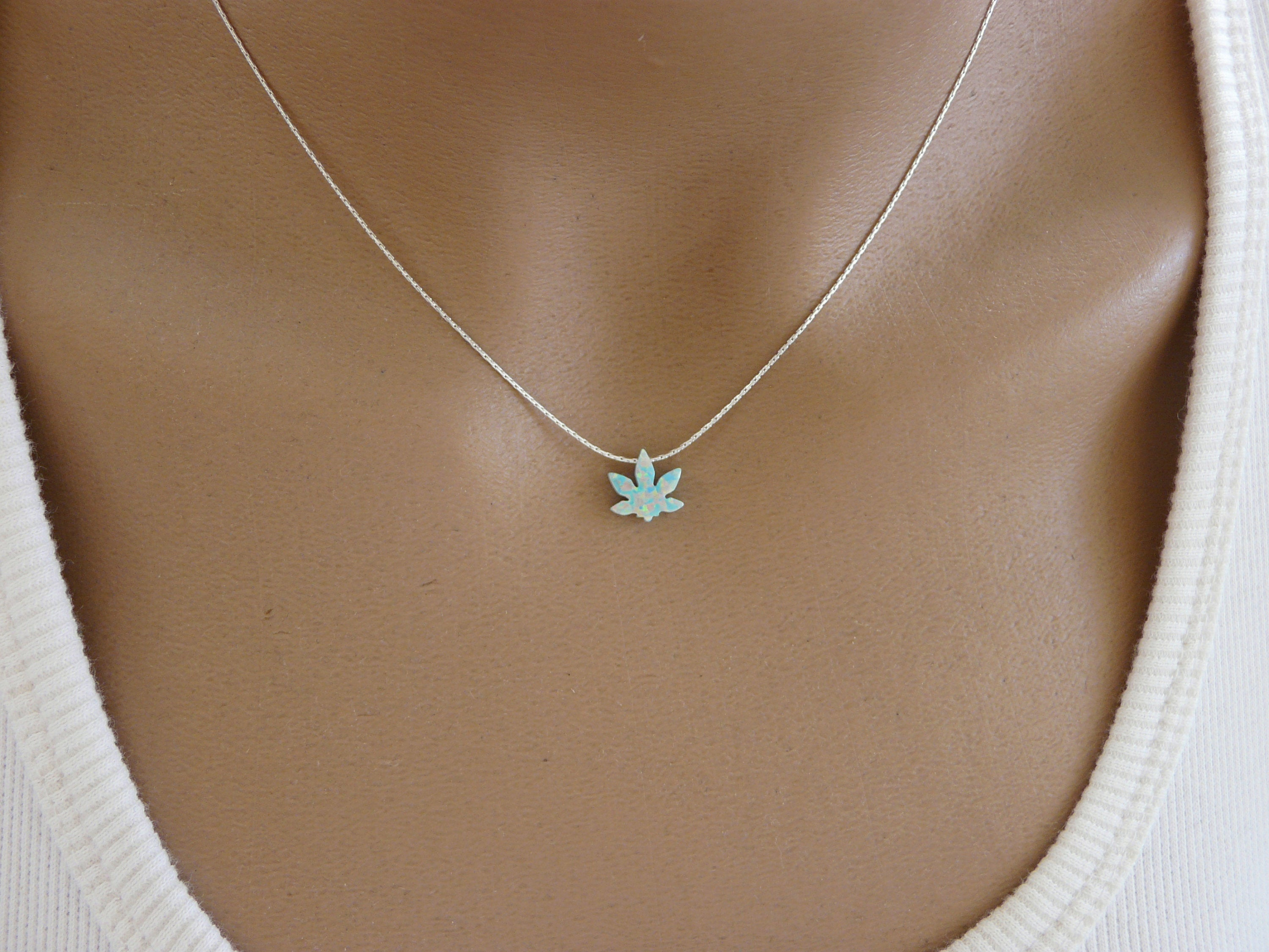 Marijuana necklace