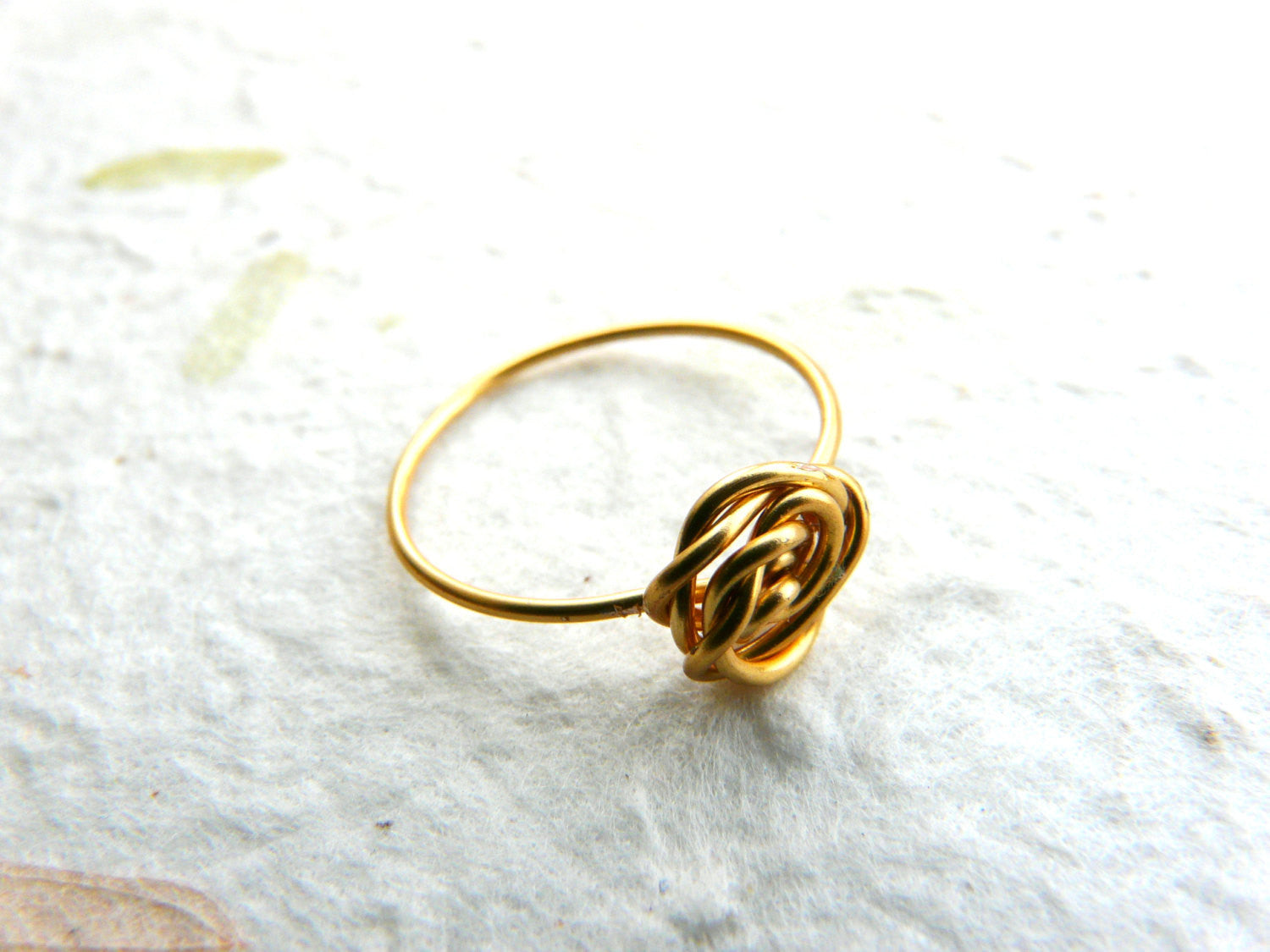 Gold filled Rose ring - OpaLandJewelry