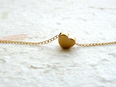 Tiny Heart necklace - OpaLandJewelry