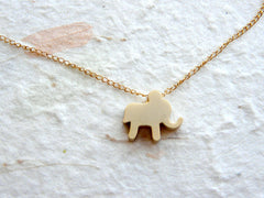 Baby elephant necklace - OpaLandJewelry