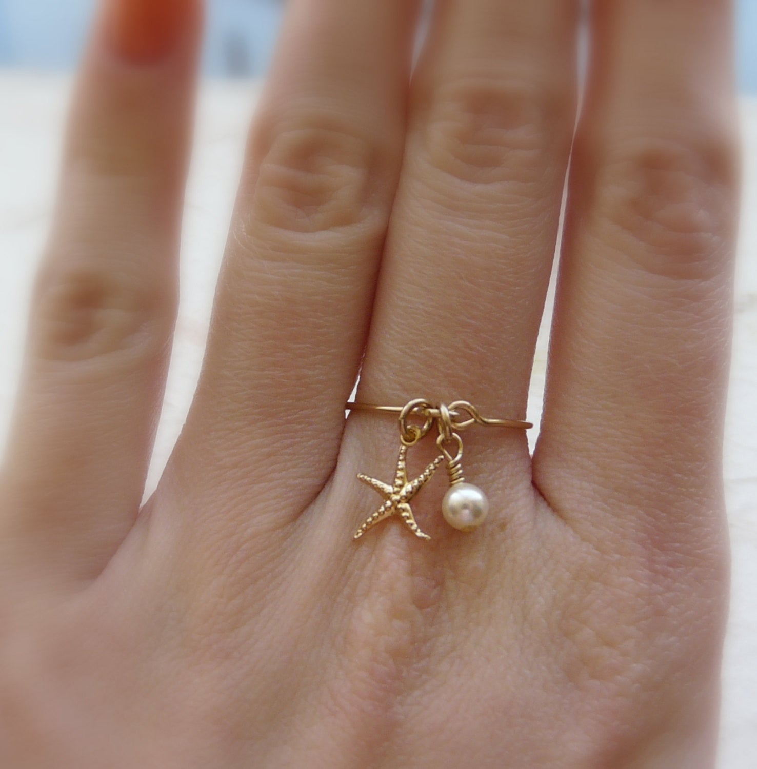 Sterling silver Starfish ring - OpaLandJewelry