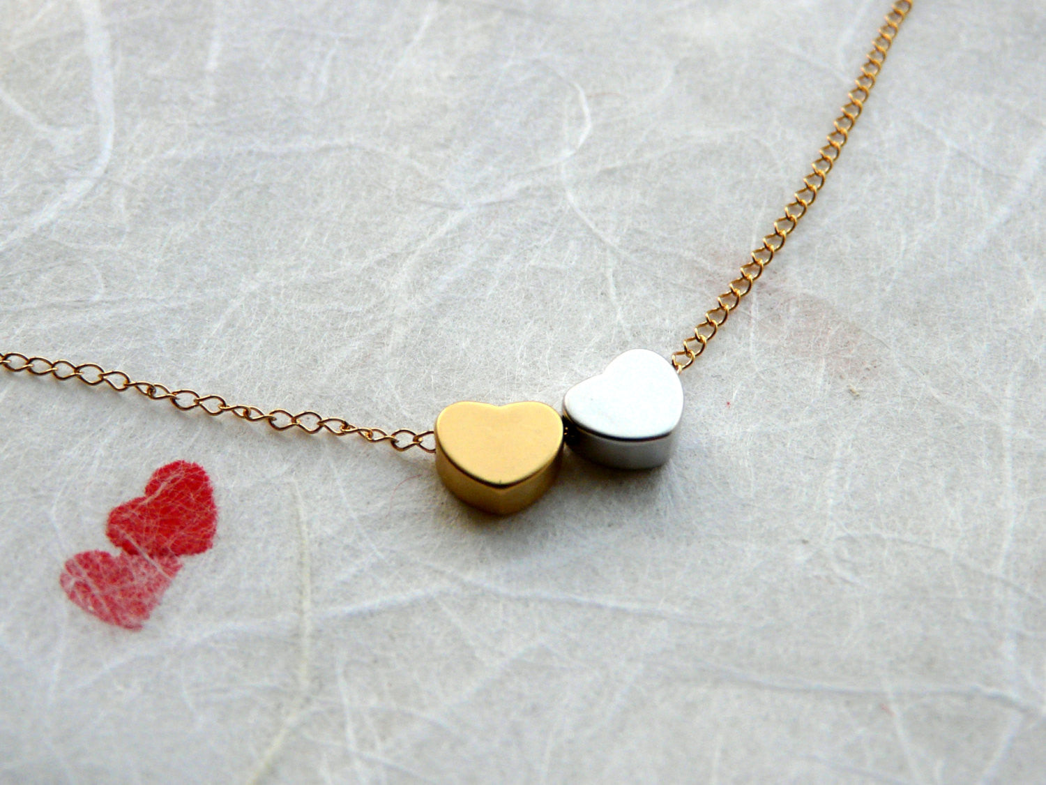 Love story necklace - OpaLandJewelry