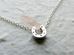 Tiny horseshoe necklace - OpaLandJewelry
