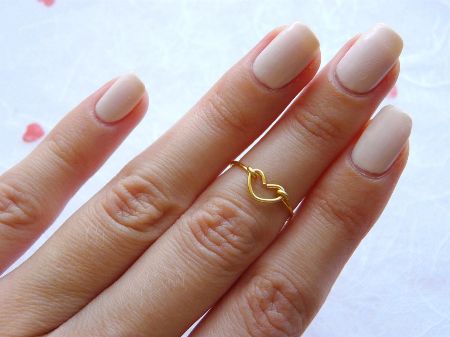 Heart knuckle ring - OpaLandJewelry
