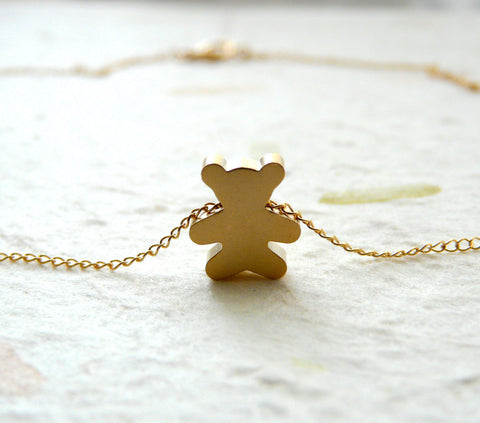 Teddy Bear necklace - OpaLandJewelry