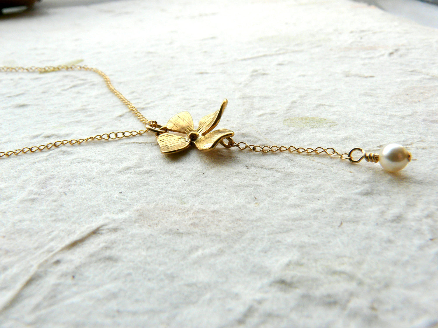 Orchid necklace - OpaLandJewelry