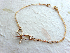 Gold Filled bow bracelet - OpaLandJewelry