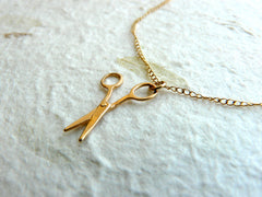 Silver Scissors necklace - OpaLandJewelry