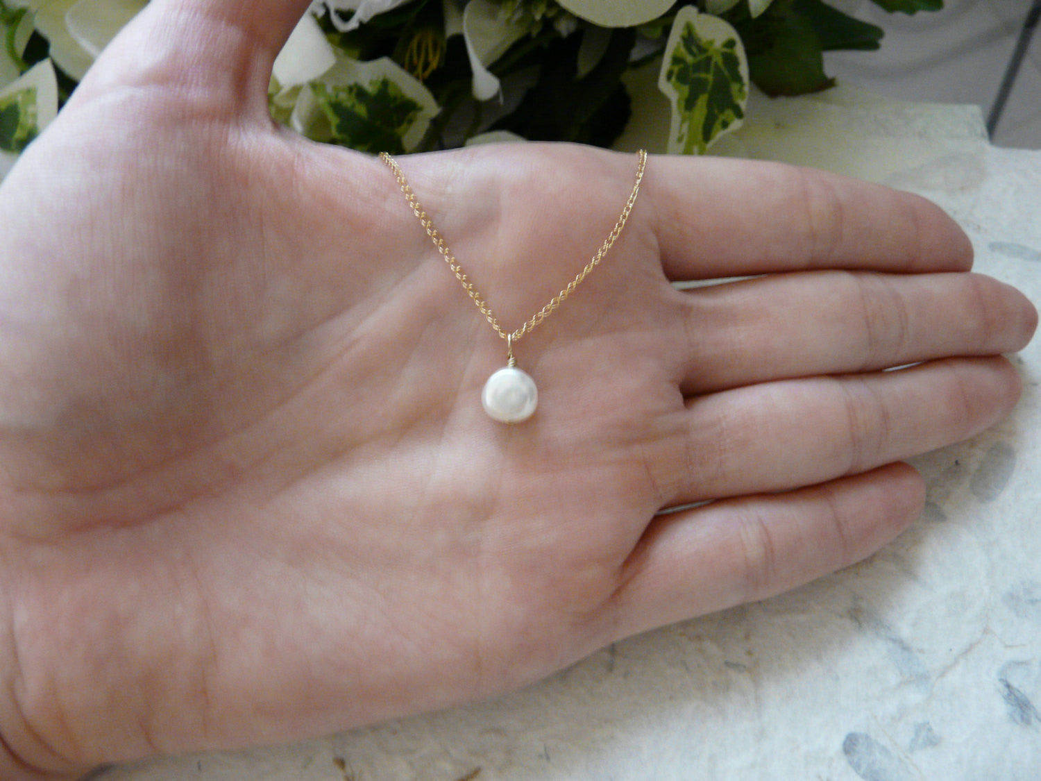Single pearl necklace - OpaLandJewelry